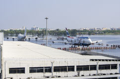 Авиапорт Дон Muang в Бангкоке был подводн Стоковая Фотография RF