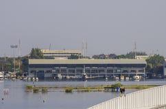 Авиапорт Дон Muang в Бангкоке был подводн Стоковое Фото