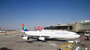 Авиапорт Йоханнесбурга Tambo Стоковое Изображение RF