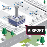 Авиапорт карты равновеликий Стоковая Фотография