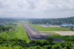 Авиапорт ландшафт к Port Blair Индии стоковое фото