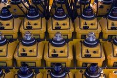 авиапорт освещает портативную машинку Стоковое фото RF