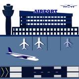 Авиапорт, равновеликий, переход авиапорта - иллюстрация Стоковое Изображение RF
