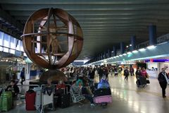 Авиапорт Рим Fiumicino Стоковое Изображение RF