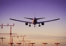 авиапорт самолета Стоковая Фотография