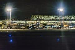 Авиапорт Сантьяго de Чили на ноче Стоковое Фото