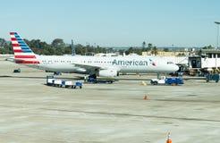 Авиапорт Сан Антонио - самолеты на пандусе Стоковое Изображение RF
