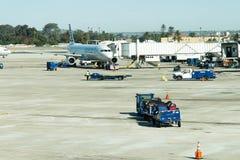 Авиапорт Сан Антонио - самолеты на пандусе Стоковые Фото