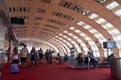 авиапорт Шарль де Голль, Париж Стоковое Изображение