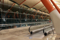 авиапорт barajas международный сумашедший madrid стоковые фото