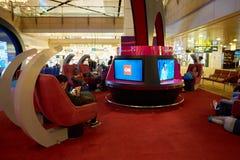 авиапорт changi singapore Стоковые Фотографии RF