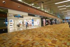 авиапорт changi singapore Стоковые Фото