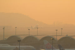 Авиапорт Kok подола Chek, Гонконг Стоковые Изображения RF
