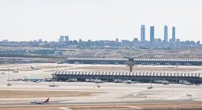 авиапорт madrid стоковая фотография rf
