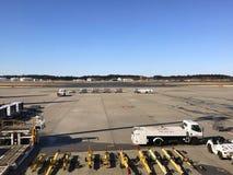 Авиапорт Narita, Япония - взгляд деятельности авиапорта, приготовление уроков специалистов Стоковое Изображение RF