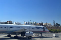 Авиапорт Santorini Стоковые Изображения RF