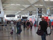 Авиапорт Stansted в Лондоне, Великобритании Стоковые Изображения RF