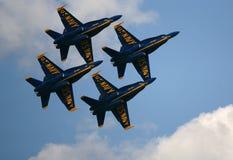 Авиасалон голубых ангелов Стоковая Фотография