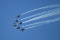 Авиасалон голубых ангелов Стоковые Фото