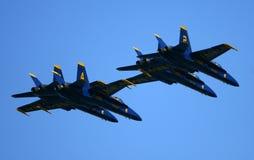 Авиасалон голубых ангелов Стоковое Фото
