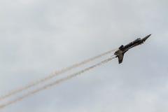 Авиасалон истребительных авиаций Стоковые Фото