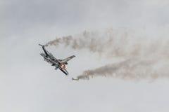 Авиасалон истребительных авиаций Стоковые Изображения