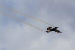 Авиасалон истребительных авиаций Стоковые Изображения RF