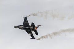 Авиасалон истребительных авиаций Стоковое Фото