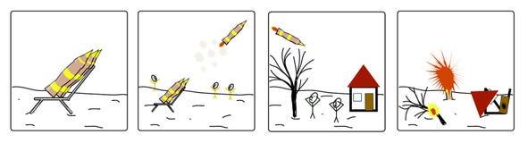 Авиационная бомба с ракетным ускорителем Стоковое Фото