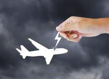 Авиационная катастрофа воздуха пассажира иллюстрация штока