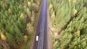 Авиационная съемка шоссе