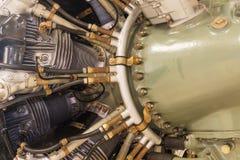 Авиационный двигатель поршеня Стоковое Изображение RF