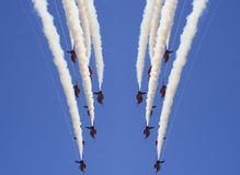 Авиационный парад стрелок военно-воздушных сил Великобритании красный Стоковые Фотографии RF