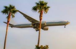 Авиалайнер двигателя в полете Стоковая Фотография RF