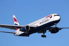 авиалинии великобританские стоковые фотографии rf