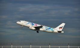 Авиалиния Бангкока принимает  Стоковые Изображения