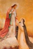 АВИЛА, ИСПАНИЯ: Явление Иисуса к St Theresia Авила в церков реального monasterio de Santo Tomas стоковое фото rf