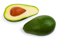 Авокадоы изолированные на белой предпосылке Стоковые Фото