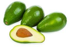 Авокадоы изолированные на белой предпосылке Стоковое Фото