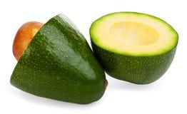 Авокадоы на белой предпосылке Стоковые Фотографии RF