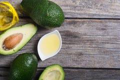 Авокадо и масло Стоковое Изображение RF