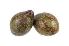 2 авокадоа изолированного на белизне Стоковые Изображения RF