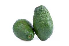 2 авокадоа изолированного на белой предпосылке Стоковые Фотографии RF