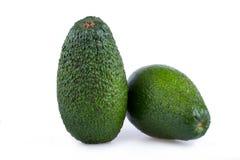 2 авокадоа изолированного на белой предпосылке Стоковые Фото