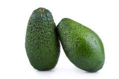 2 авокадоа изолированного на белой предпосылке Стоковая Фотография RF