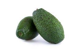 2 авокадоа изолированного на белой предпосылке Стоковое фото RF