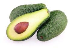 Авокадоы изолированные на белизне Стоковое Изображение