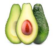 авокадоы изолировали 3 Стоковая Фотография