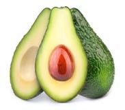 авокадоы изолировали 3 Стоковая Фотография RF