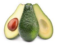 авокадоы изолировали 3 Стоковое Фото